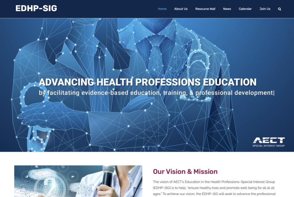 EDHP-SIG Final Website Screenshot